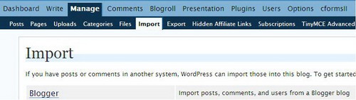 Import Posts and Comments from Blogger to WordPress