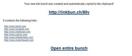 Link Bunch - Turn Multiple URLs int one Bunch Link