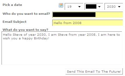 Email Yourselves in the Future - Time Machiner