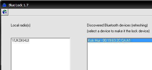 Automatically Lock PC with Bluetooth Phone