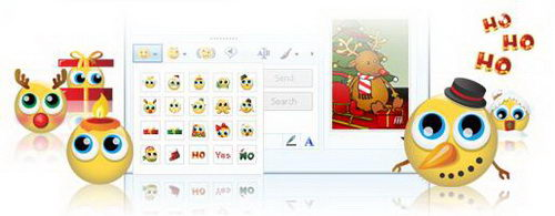 Animated Christmas Emoticon Pack for MSN and Windows Live Messenger