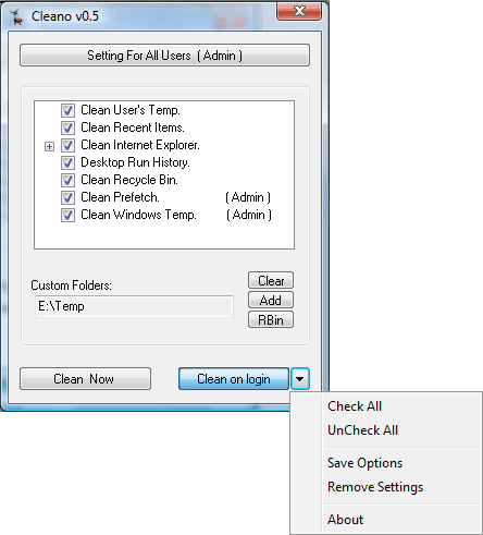 how to clear temporary file in windows