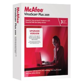 McAfee Virus Scan Plus 2009 Free 1 Year Subscription License