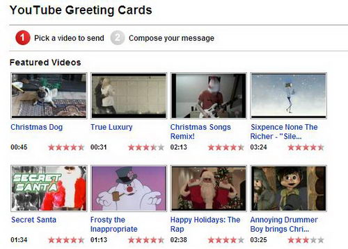 Youtube Christmas Greeting Cards