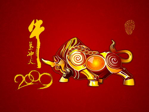 Chinese New Year Of Ox 2009 Wallpapers Pack