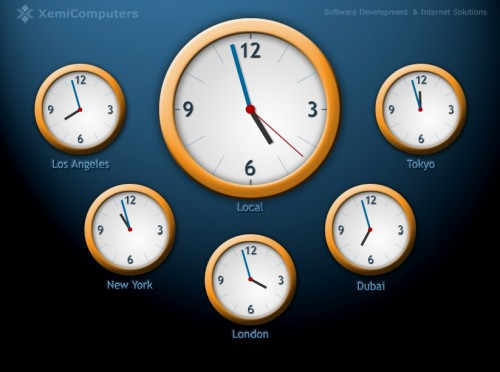 World Clock Screensaver