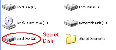 Create Hidden Password-Protected Disk Partition