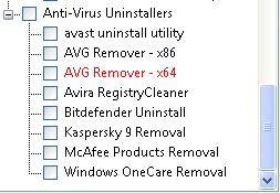 Anti-Virus Uninstallers