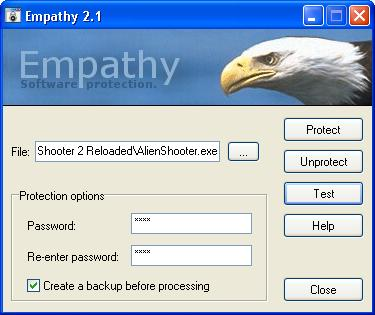 Empathy Software Password Protection