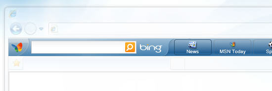 MSN Toolbar with Bing Decision Search Engine