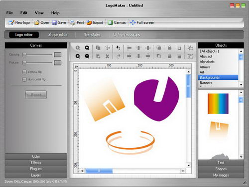 Free Logo Maker 2.0 Screenshot. With over 500 professionally designed