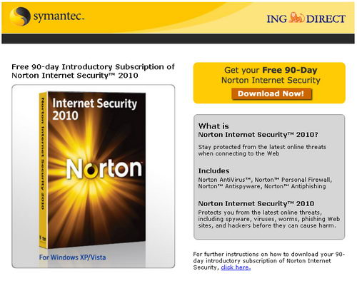 Norton Internet Security 2010 Free 90 Days License