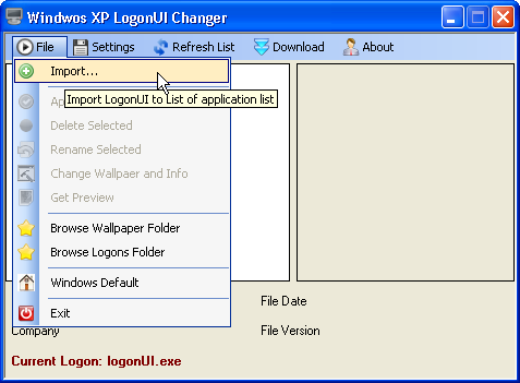 Logon Screens For Xp. Browse for the logon screen