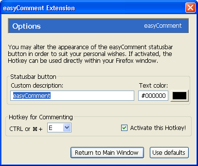 Use Hotkey to Automatically Fill Up Comment Form