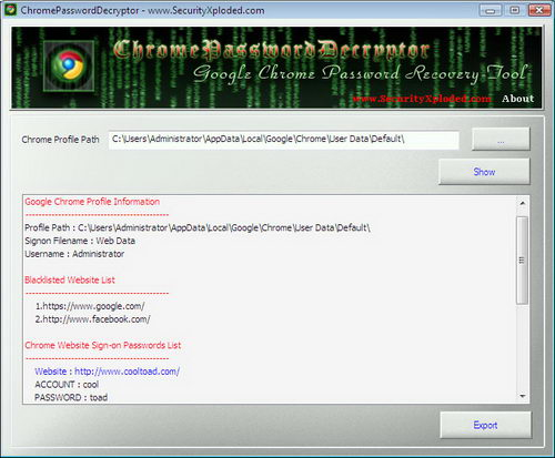 How To Recover Passwords in Google Chrome Browser