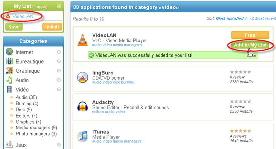 Add Favourite Applications to the Installer List