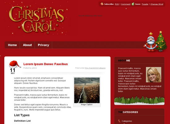 45 beautiful free christmas wordpress template 2011 all wordpress themes. Black Bedroom Furniture Sets. Home Design Ideas