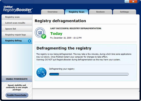Uniblue Registry Booster 2010 Free with keygen, crack, serial, CD.