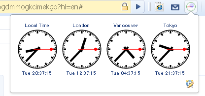 Display Multiple World Time Clocks On Google Chrome