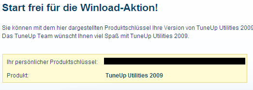 Of TuneUp Utilities 2009 for free with valid product key German serial will
