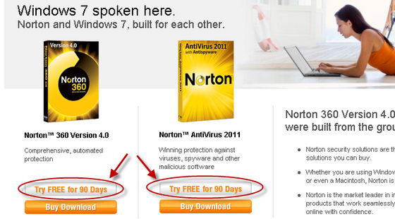 Norton Free Trials
