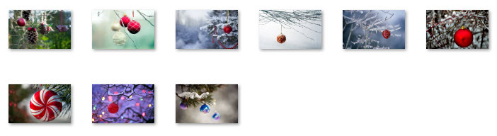 Windows 7 Christmas Theme - Decorating the Trees Wallpapers