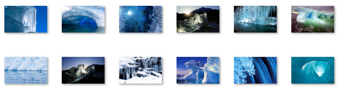 Windows 7 Christmas Theme Frozen Formations Wallpapers