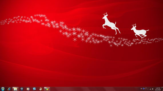 Free christmas theme packs for windows 7.