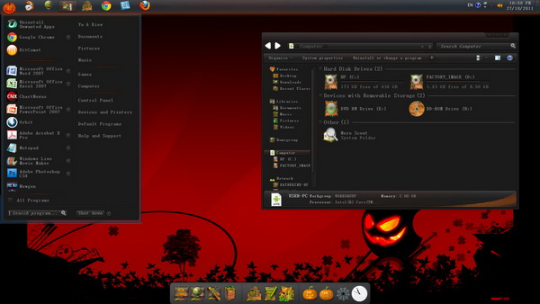halloween skin pack for windows 7 - Windows 7 Halloween Theme