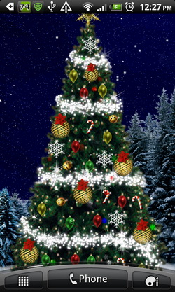 pics photos christmas tree live wallpaper for android
