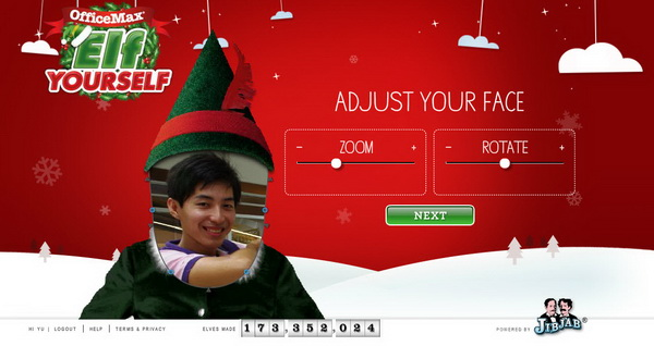 Create dancing elf christmas video greeting card with elf yourself position m4hsunfo