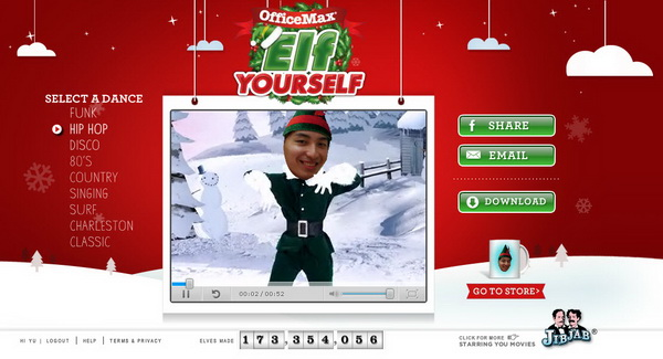 Create dancing elf christmas video greeting card with elf yourself now m4hsunfo