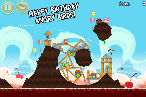Angry Birds Birthday Update with 15 New Levels and All Levels Unlocked