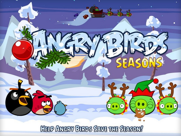 the - Christmas Angry Birds