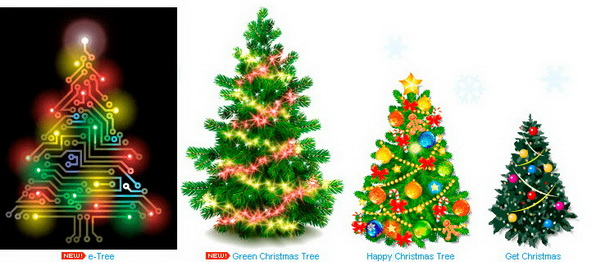 Animated Christmas Trees For Windows