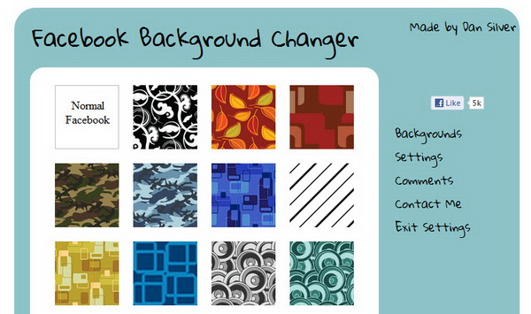 Add Background Image to Your Facebook Profile with ...