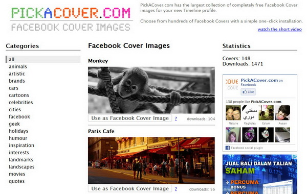 Pick a Cover - Facebook Cover Images