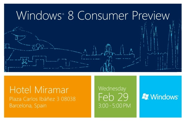 Windows 8 Consumer Preview on Feb 29