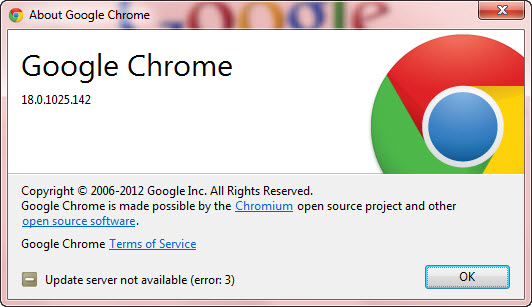Download Google Chrome 18 Stable
