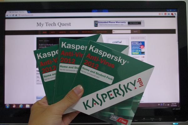 Kaspersky Anti-Virus 2012 License Giveaway
