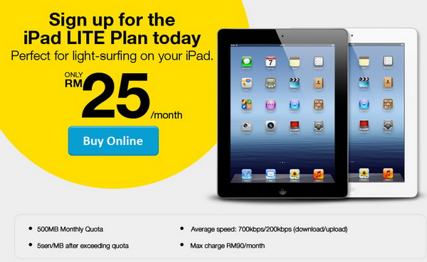 DiGi New iPad Internet Plan from RM25/Month