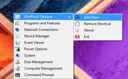 Windows 8 Win+X Quick Access Menu on Windows 7, Vista and XP