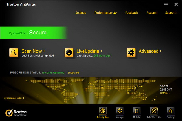Norton Antivirus 2012 Free License