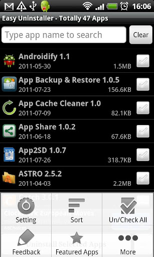Batch Uninstall Android Apps