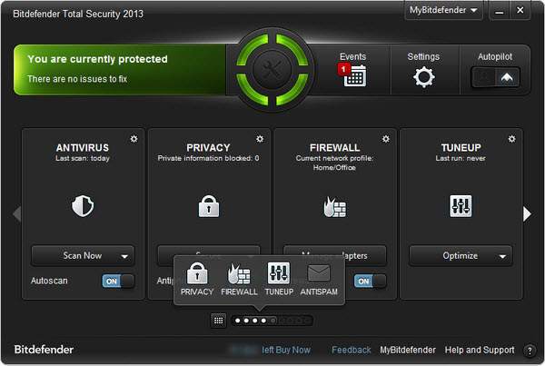 Bitdefender Total Security 2013 with Free License