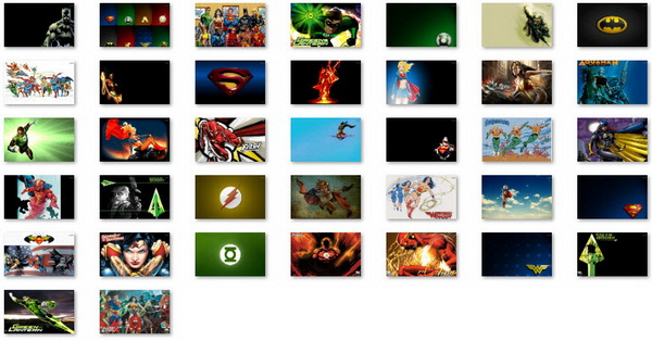 DC Comics - Windows 7 Theme Pack
