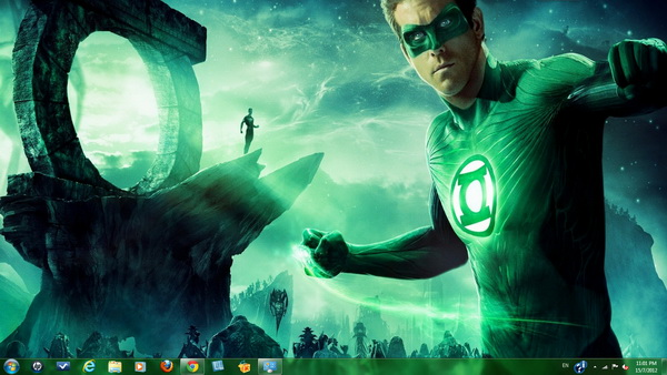 Green Lantern - Windows 7 Theme Pack