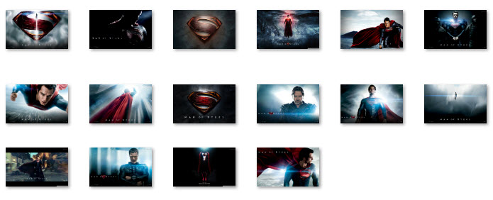 Superman Man of Steel - Windows 7 Theme Collection