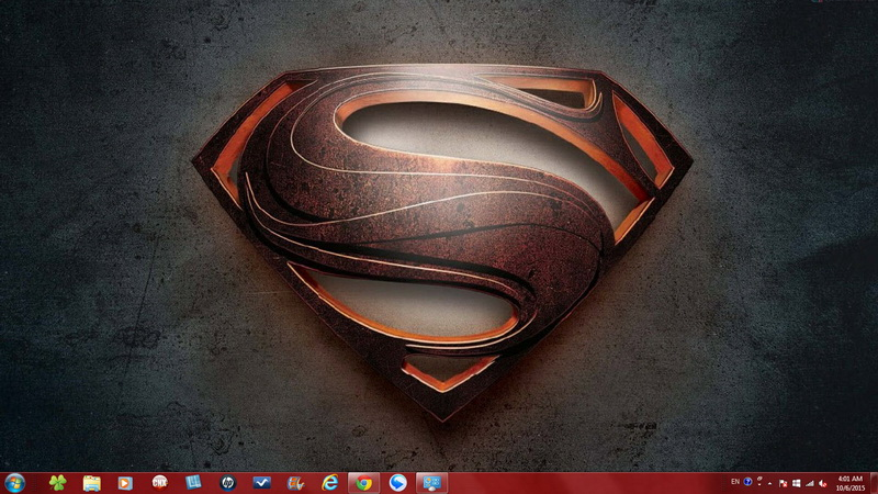 Superman Man of Steel - Windows 7 Theme