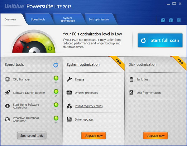 Uniblue Powersuite Lite 2013